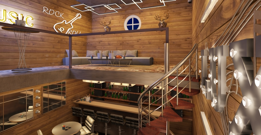 LUX BAR Interior Design Render