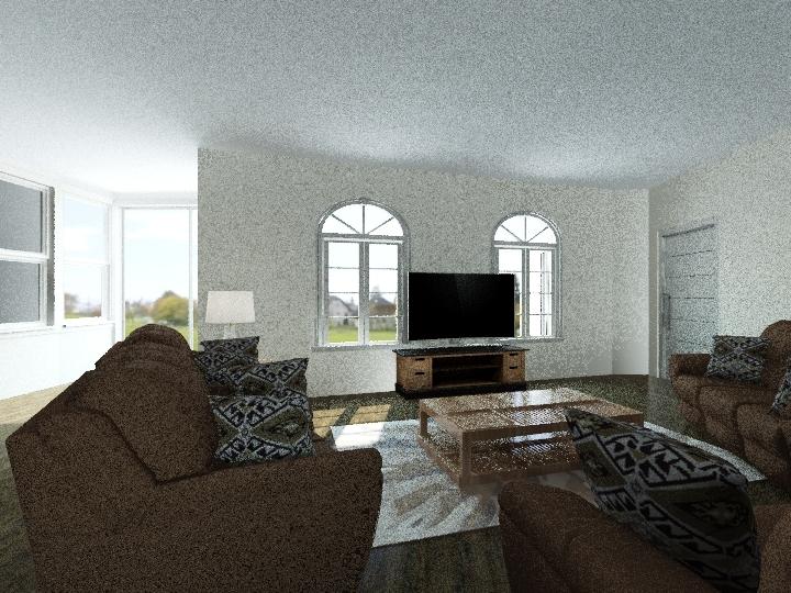 lounge and kitchen Interior Design Render