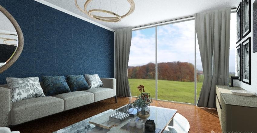 Modern lux.  Living room.  Interior Design Render