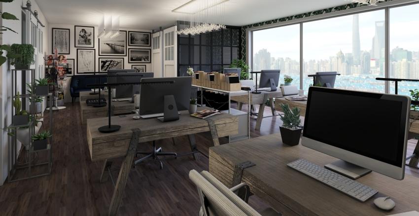 Fashion Office Interior Design Render