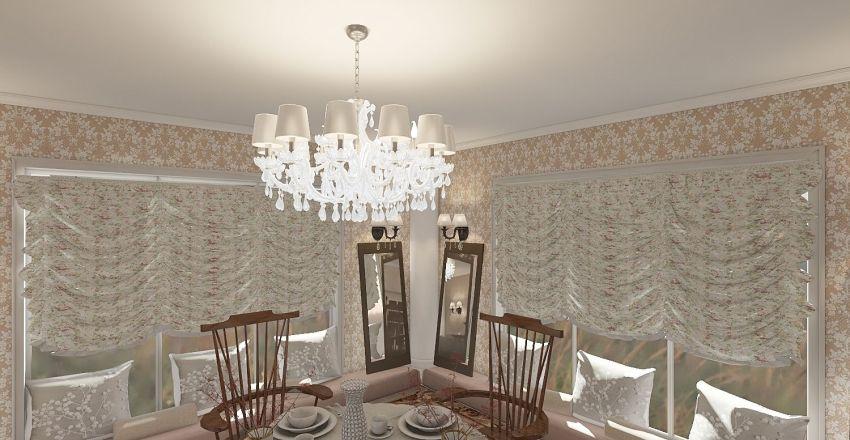 Country Formal Interior Design Render