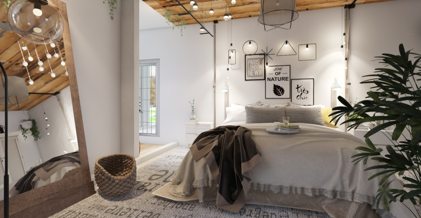 Boho chic  Interior Design Render