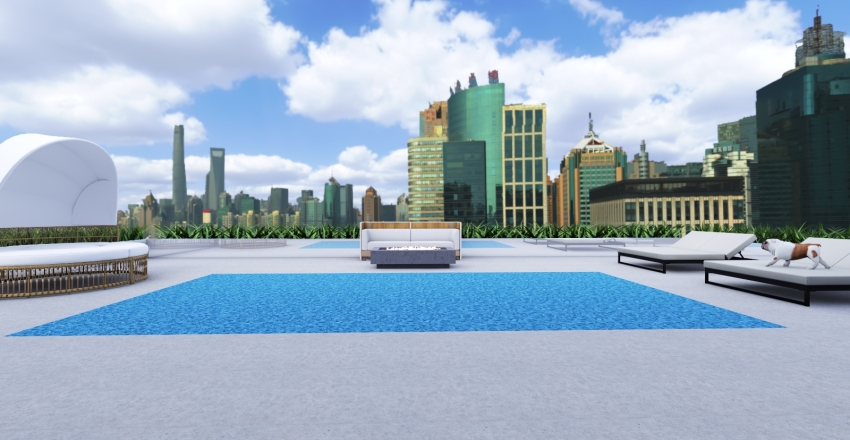 DOWNTOWN POOL HOUSE Interior Design Render