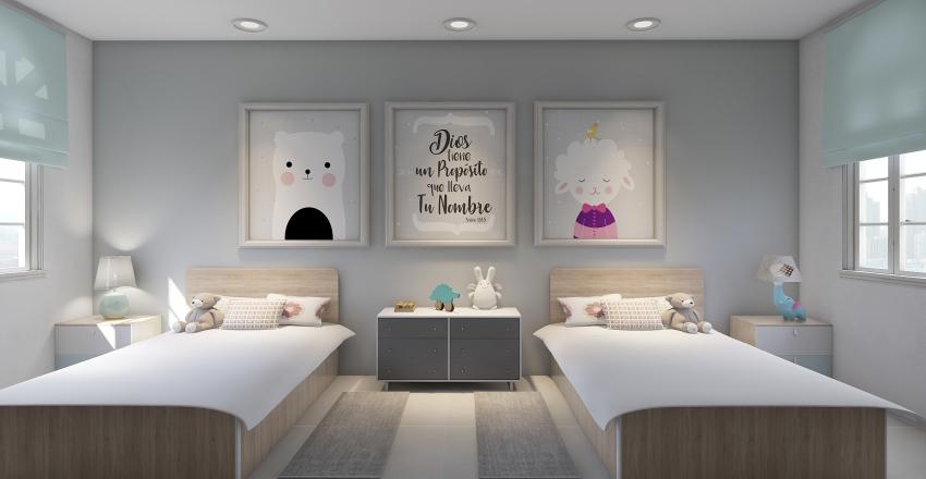 Alcoba Niñas Interior Design Render