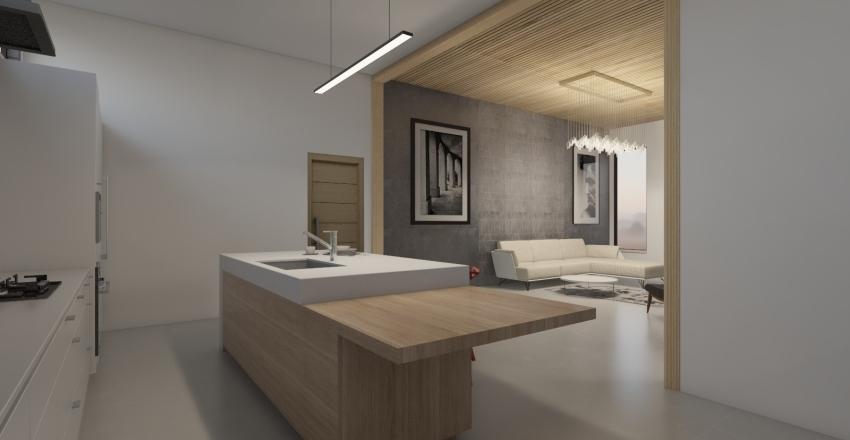 House in nature Interior Design Render