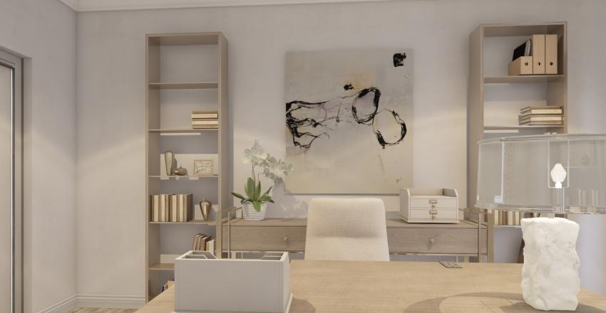 Office: Transitional Glam Interior Design Render
