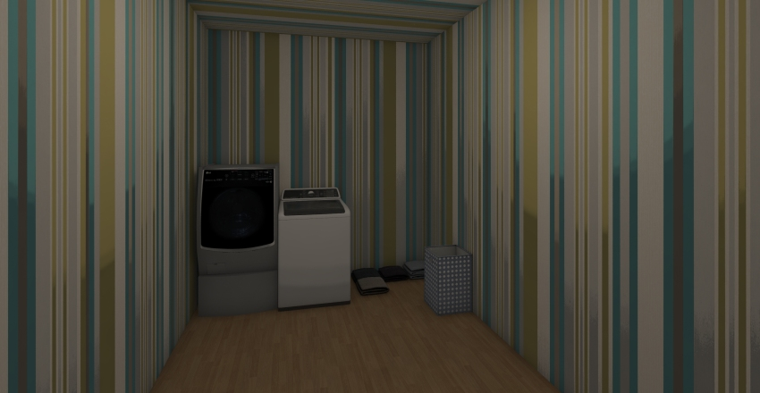Office and  laundry room Interior Design Render