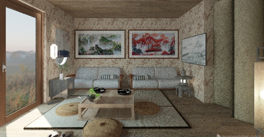 JapaneseSakuraHouse Interior Design Render