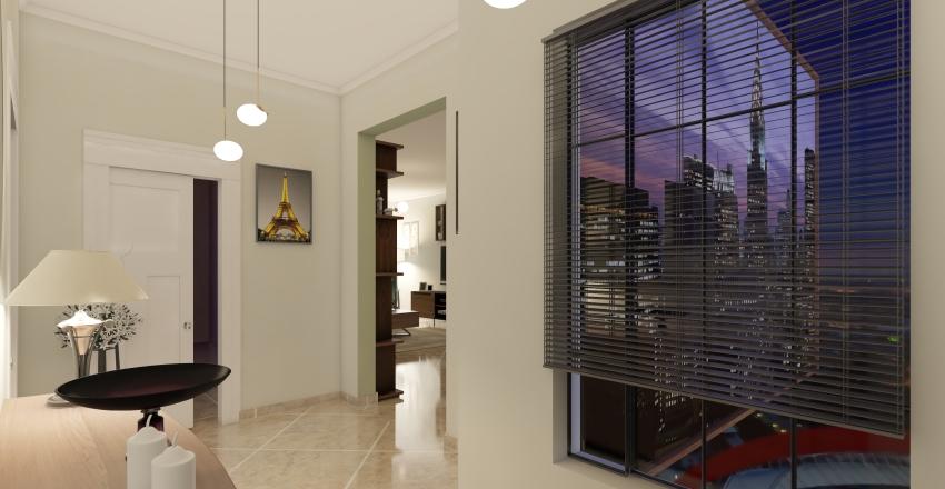 διαμερισμα στουντιο Interior Design Render