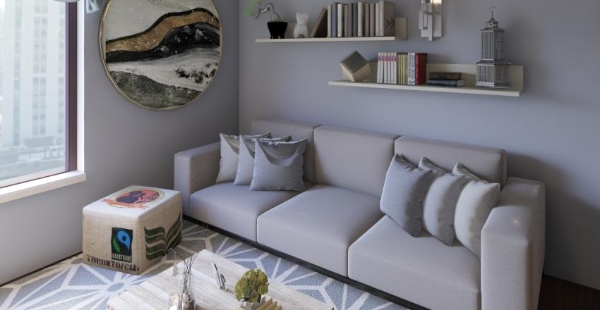 Modern Small Space Interior Design Render