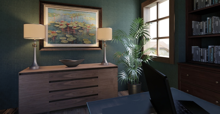 Office: Traditional Classic Interior Design Render