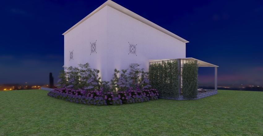 Black, Earth & White Interior Design Render