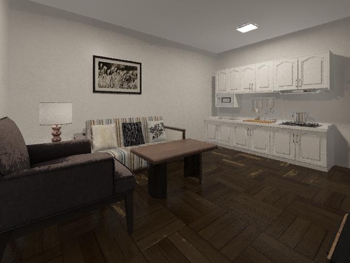 REFORMA EN LA GOMERA Interior Design Render