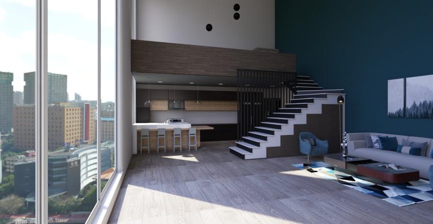 Luxury Manhattan Penthouse Interior Design Render