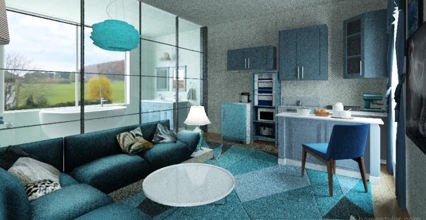 blue-home Interior Design Render