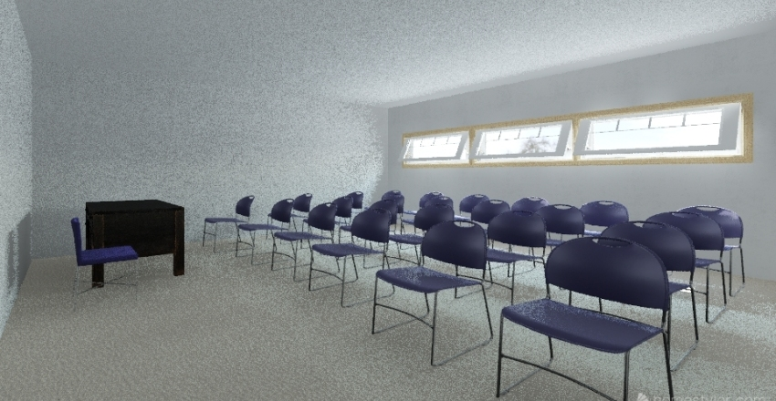 salon de clases  Interior Design Render