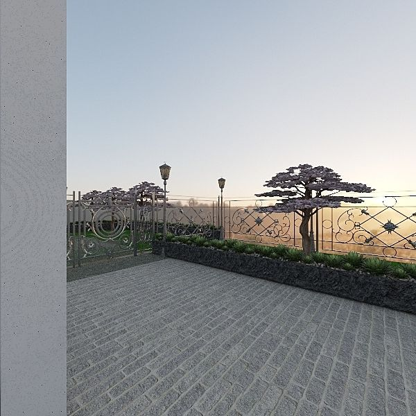 grey dusk Interior Design Render