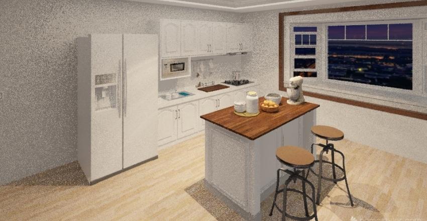 Modern two story house Interior Design Render