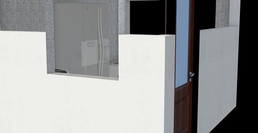 cocina casa rocas Interior Design Render