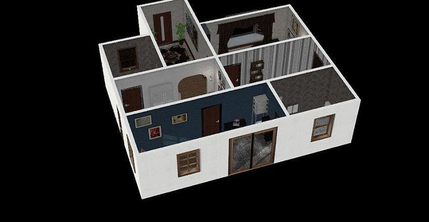 4 Person Home Interior Design Render