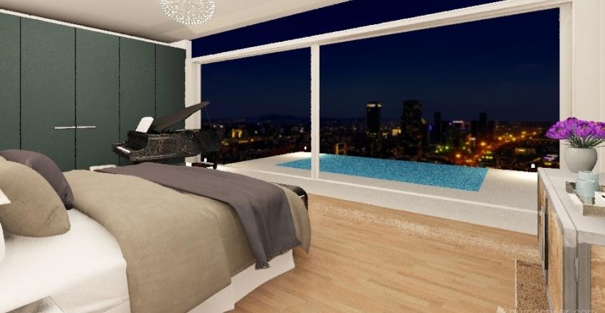 dormitorio con vistas Interior Design Render