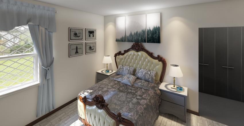 Middle Class Master Bedroom (Kenya) Interior Design Render