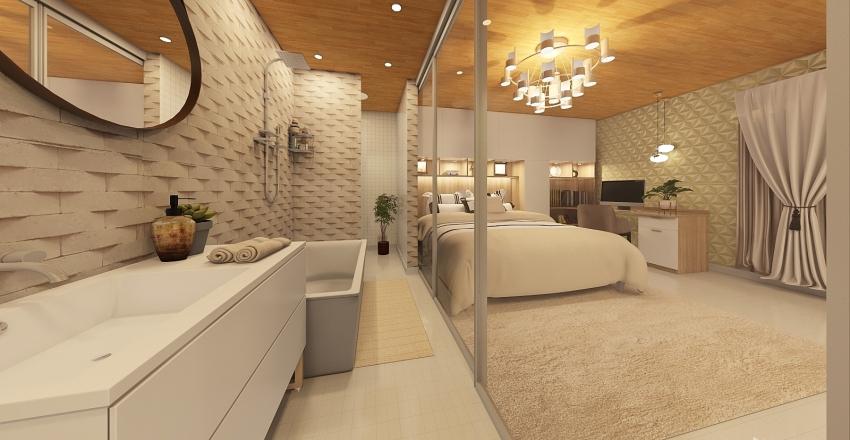 Suíte Casal  Interior Design Render