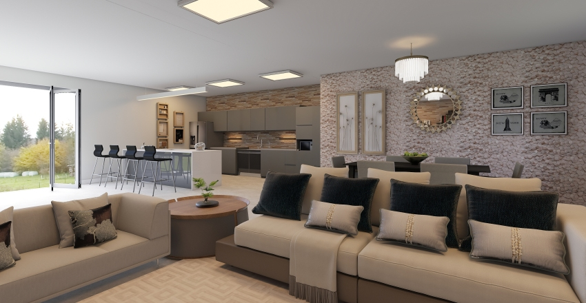Ambientes integrados Interior Design Render