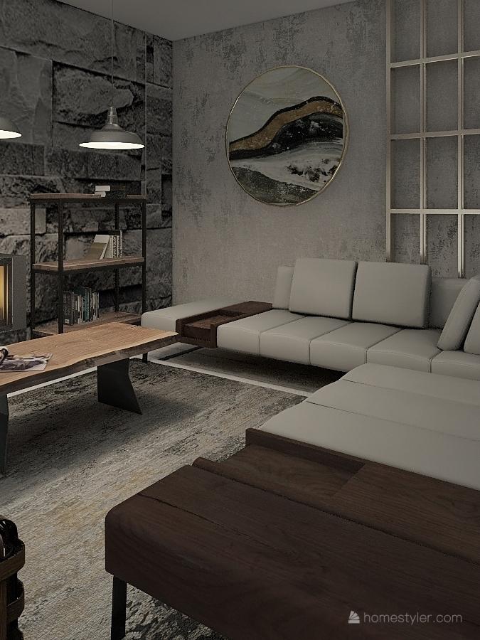 country bungalow Interior Design Render