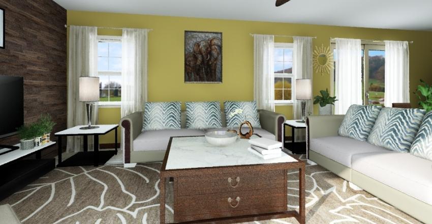 Back house Interior Design Render