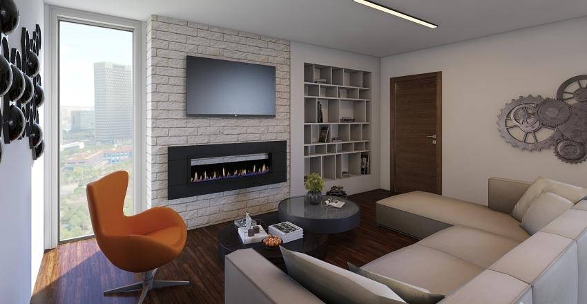 Real Apartment Interior Design Render