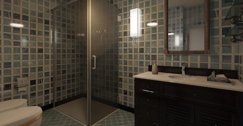 Trilocale Gold Russo Interior Design Render