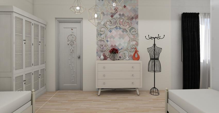chambre fusionnée Interior Design Render