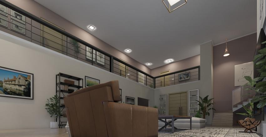 Luxury Apartment Living Room  Interior Design Render