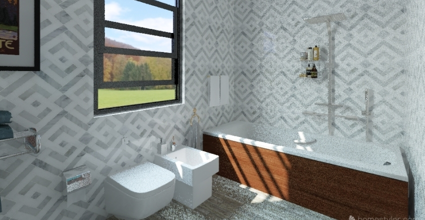 casa vacanza Interior Design Render