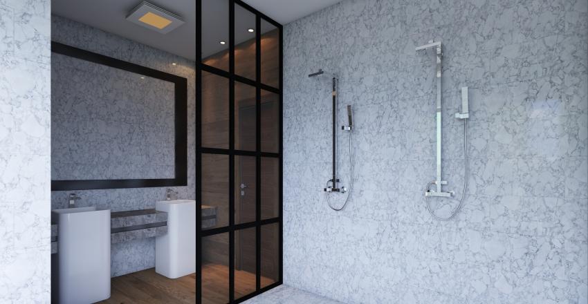 banheiro casal Interior Design Render