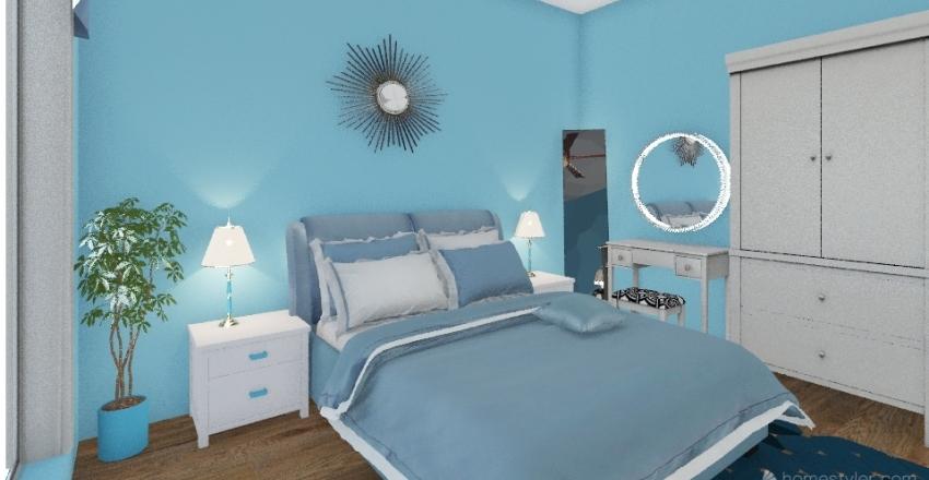 coastal-chic style bad room Interior Design Render