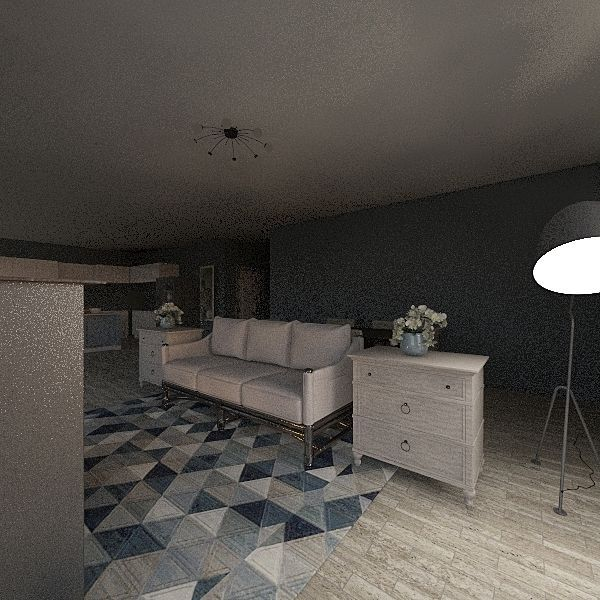 Blues home Interior Design Render