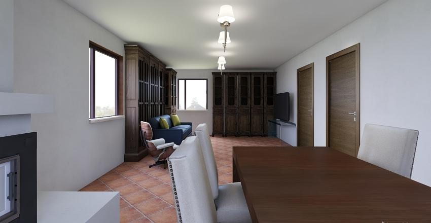 family living room Interior Design Render