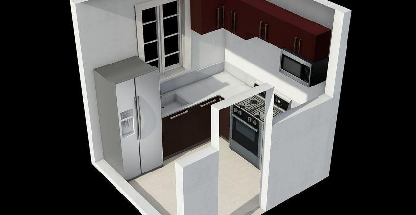 COCINA TIPO L Interior Design Render