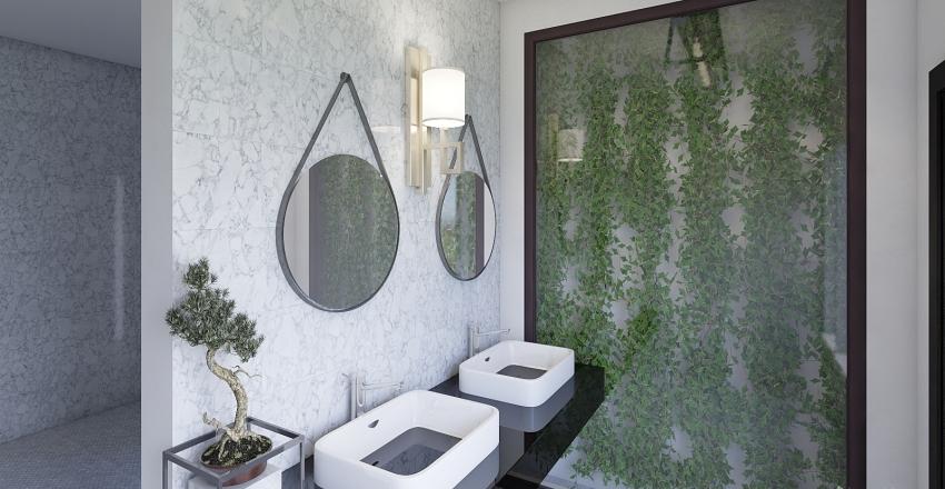 restroom Interior Design Render