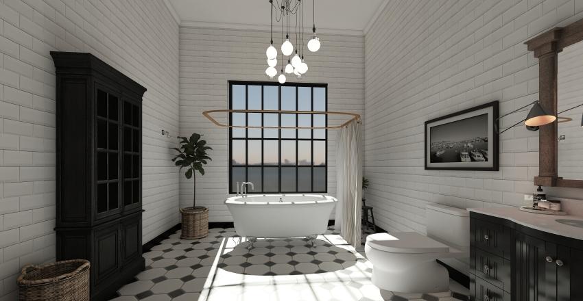 Pinehurst Avenue NYC  Eclectic accent decoration.  Interior Design Render