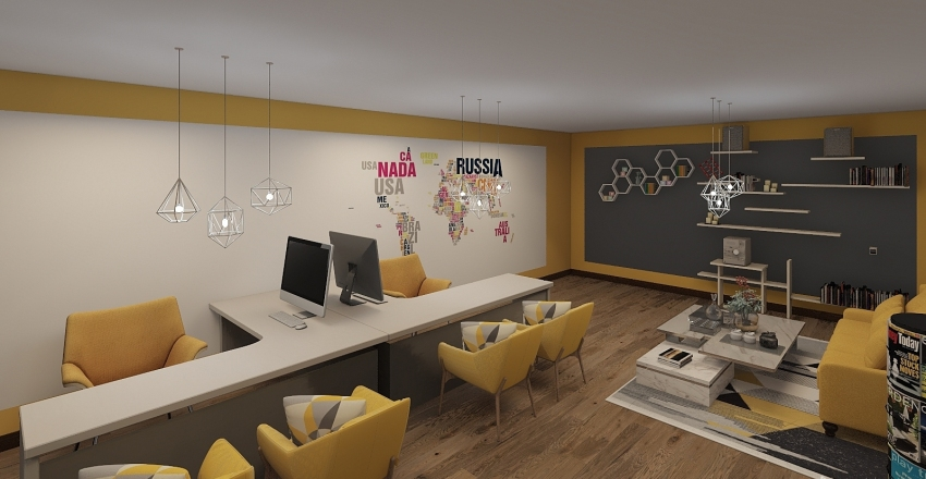 oficina amor Interior Design Render