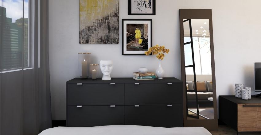 New York Studio Interior Design Render