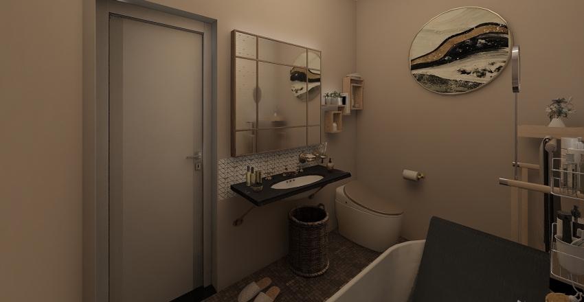Industrial Accent - First Floor Interior Design Render