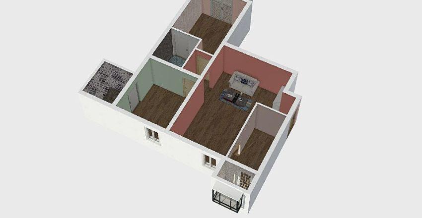 2BHK Interior Design Render