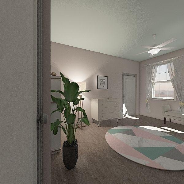 Peach Dreams Interior Design Render