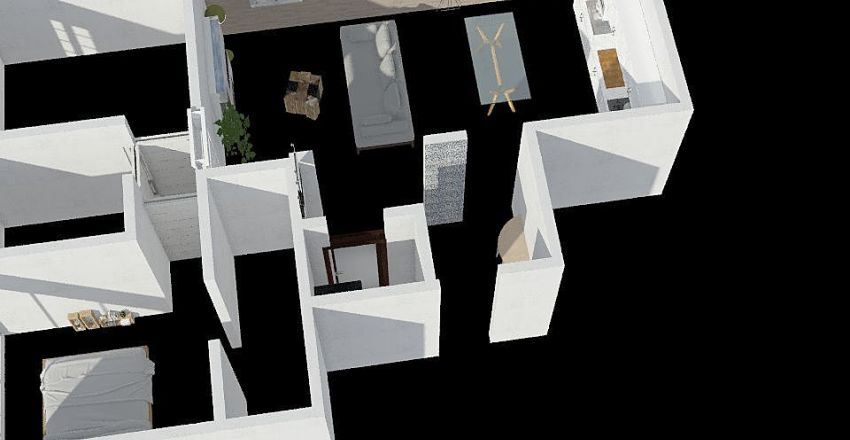 casa fuorigrotta  Interior Design Render