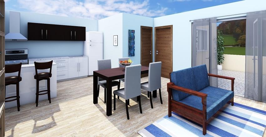 CASA BROWN Interior Design Render