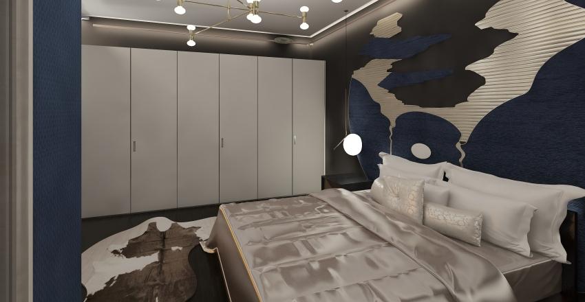 blue&black Interior Design Render
